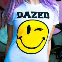 Dazed Smiley Face Tee