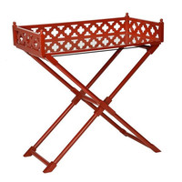 Chelsea House Mirror Coaching Table | Red