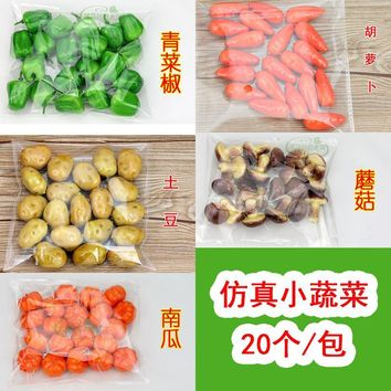 Festive Supplies Artificial Vegetables bubble MINI Simulation Vegetable Pumpkin Corn chili model Decoration Crafts 20pc/lot