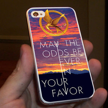 Hunger Games Catching Fire Quotes for iPhone 4/4S, 5/5S and 5C case.