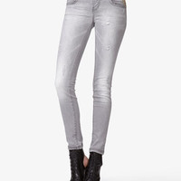 Spiked Distressed Skinny Jeans | FOREVER 21 - 2037856298