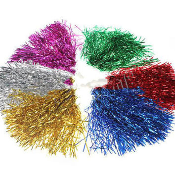 Durable Sports Cheerleader Party Favors Flower Ball Pom Poms Delicate 3C