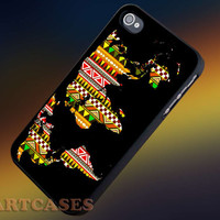Aztec Pattern on World Map Nebula iphone 4/4s case, iphone 5/5s,iphone 5c, samsung s3 i9300 case, samsung s4 i9500 case in SmartCasesStore.