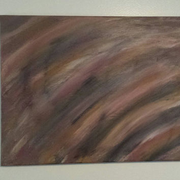 "Abstract Painting ""Wisps of Nature"" Gallery Wrapped 16x20 Handmade"