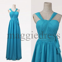 Custom Ice Blue Long Bridesmaid Dresses 2014 Prom Dresess Evening Gowns Formal Party Dresess Homecoming Dresses Party Dress Cheap Dress