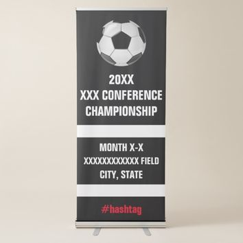 College Soccer Conference Tournament Signage Retractable Banner