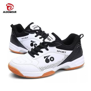 ALDOMOUR Professional Cushioning Volleyball Shoes Unisex Light Sports Breathable Shoe Sneakers Badminton Table Tennis Shoes