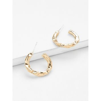 Gold Slim Hoop Earrings
