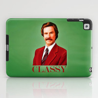 THE LEGEND OF RON BURGUNDY - Anchorman iPad Case by John Medbury (LAZY J Studios)