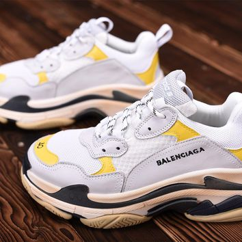 Balenciaga Triple White / Yellow Sneaker