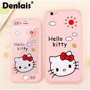 Lovely Animated Phone Case and Screen Protector For iPhone 7 6 6S Plus 7Plus-7 Different Styles