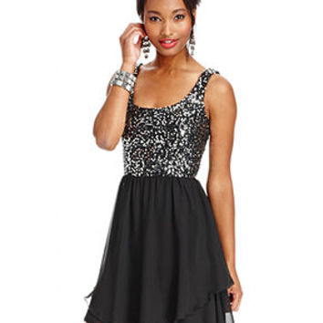 Speechless Juniors Dress, Sleeveless Sequin Chiffon - Juniors Homecoming Dresses - Macy's