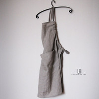 Custom linen apron. Stain resistant. The best ever. Color-grey.