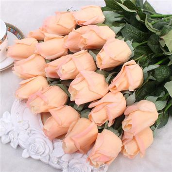 11pcs Artificial Realistic Rose Bouquet