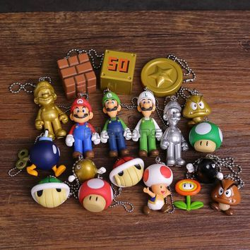 Super Mario party nes switch  Brothers  Luigi Toad Koopa Mini PVC Figures Pendants 19pcs/set AT_80_8