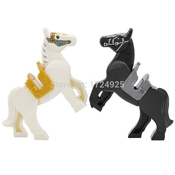 6cm knight Horse Block 1pcs Nazgul Horse figure The Lord of the Rings the Hobbits Building Blocks Kids Toys Hobbit Gifts