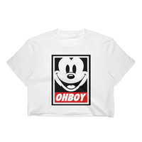 Ohboy Mickey Mouse Women's Crop Top