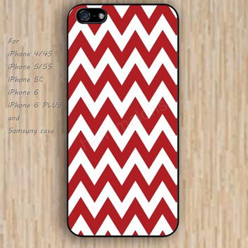 iPhone 6 case dream white red chevron iphone case,ipod case,samsung galaxy case available plastic rubber case waterproof B196