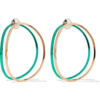 Delfina Delettrez - 18-karat gold enamel earrings