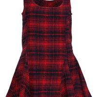 ROMWE | Red Plaid Sleeveless Dress, The Latest Street Fashion