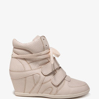 Street-Chic Perforated Wedge Sneakers