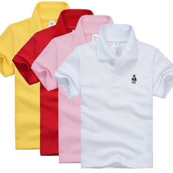 High Quality Kids Boys Polo Shirt Baby Boy Clothes