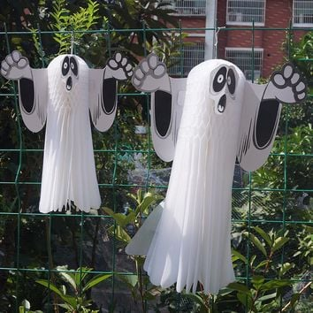 Horror Horror Ghost Charm Ghost Ghost Decorative Supplies Paper Ghosts [114654347294]