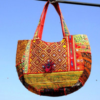 Banjara bags vintage tote bags vintage taxtile bag authnic embroidery bohemian bags hobo bags