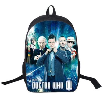 16 Inch Doctor Who Police Box Backpack For Teenagers Boys Girls School Bags Women Men Travel Bag Children Backpacks