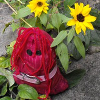 Boo - one of a kind rag doll with red hair