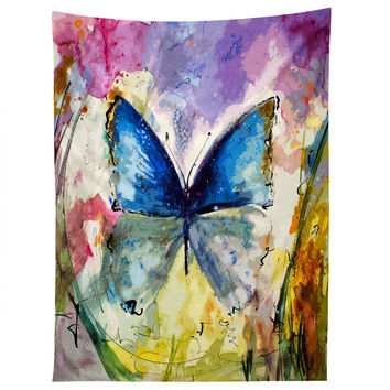 Ginette Fine Art Blue Butterfly Tapestry