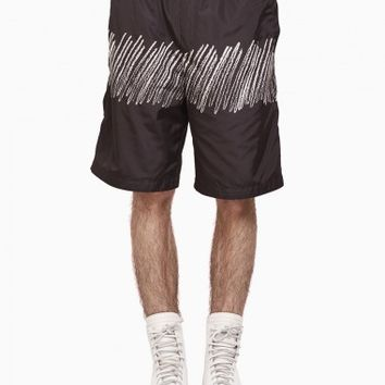 Swim shorts from S/S2016 T by Alexander Wang collection in black