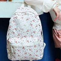 Backpack with Flora Print and Lace WSX654 from topsales