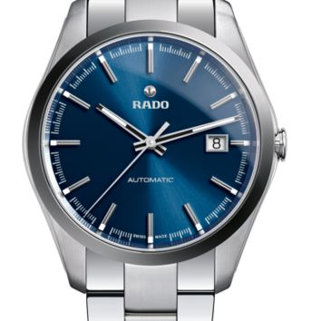 Rado Hyperchrome L Automatic Blue Dial Stainless Steel See Thru Case Back Sapphire Crystal Super Luminova Men's Watch R32115203