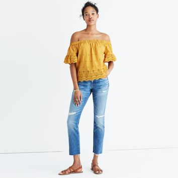 Eyelet Off-the-Shoulder Top : | Madewell