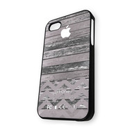 Apple Gray Vintage Wood iPhone 4/4S Case
