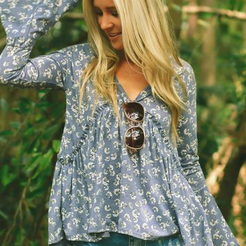 Denim Dais-Y Print Top Denim