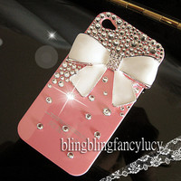 iphone 5 case, iphone 5 cover, pink iphone 5 case, bling iphone 5 skin, cute iphone 5 case,white bow iphone 5 case,chritsmas iphone 5 case