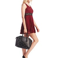 Romantic Lace Illusion Dress | Wet Seal