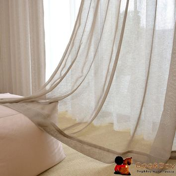 Hot Sales Linen Tulle Curtains For Living Room Hight Quality Classic Window Curtains
