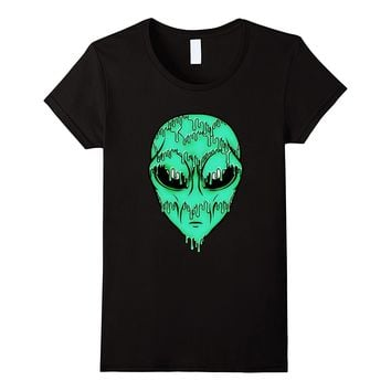 Green Trippy Alien T-Shirt