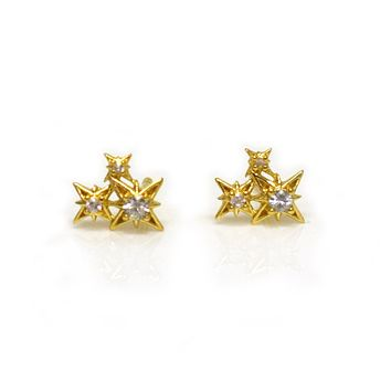 White Sapphire Starry Night Cluster Studs