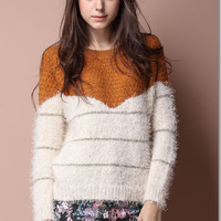 Warm Slim Sleeve Knit Sweater