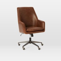 Helvetica High-Back Leather Office Chair