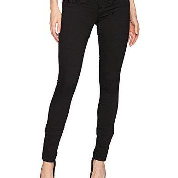 True Religion Women's Skinny Jean with Back Flap Pockets, Body Rinse, 29