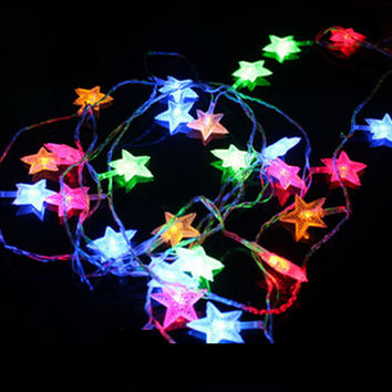 New Year Christmas Garlands LED String Christmas Lights Fairy Xmas Party Garden Wedding Decoration Curtain fairy Light PTSP