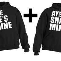 COMBO This guy Loves his Aye he's / She's mine Girlfriend and Girl loves her Boyfriend Hoodie COMBO