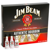 Jim Beam Liquor Filled Chocolate Bottles: 12-Piece Box