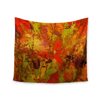 "Jeff Ferst ""Autumn"" Orange Red Wall Tapestry"