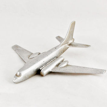 Vintage Art Deco Airplane Aircraft Metal Industrial Home Decor